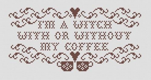 Coffee Witch stitch view